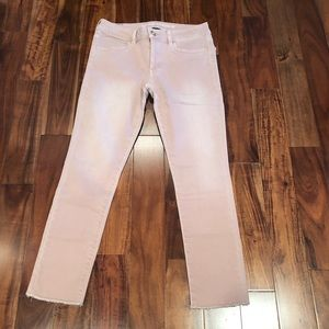 American eagle crop blush pink jeans